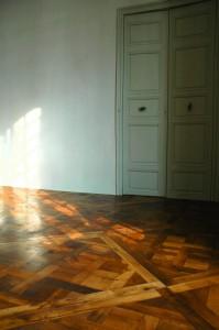 Parquet Versailles réalisé avec du plancher ancien
