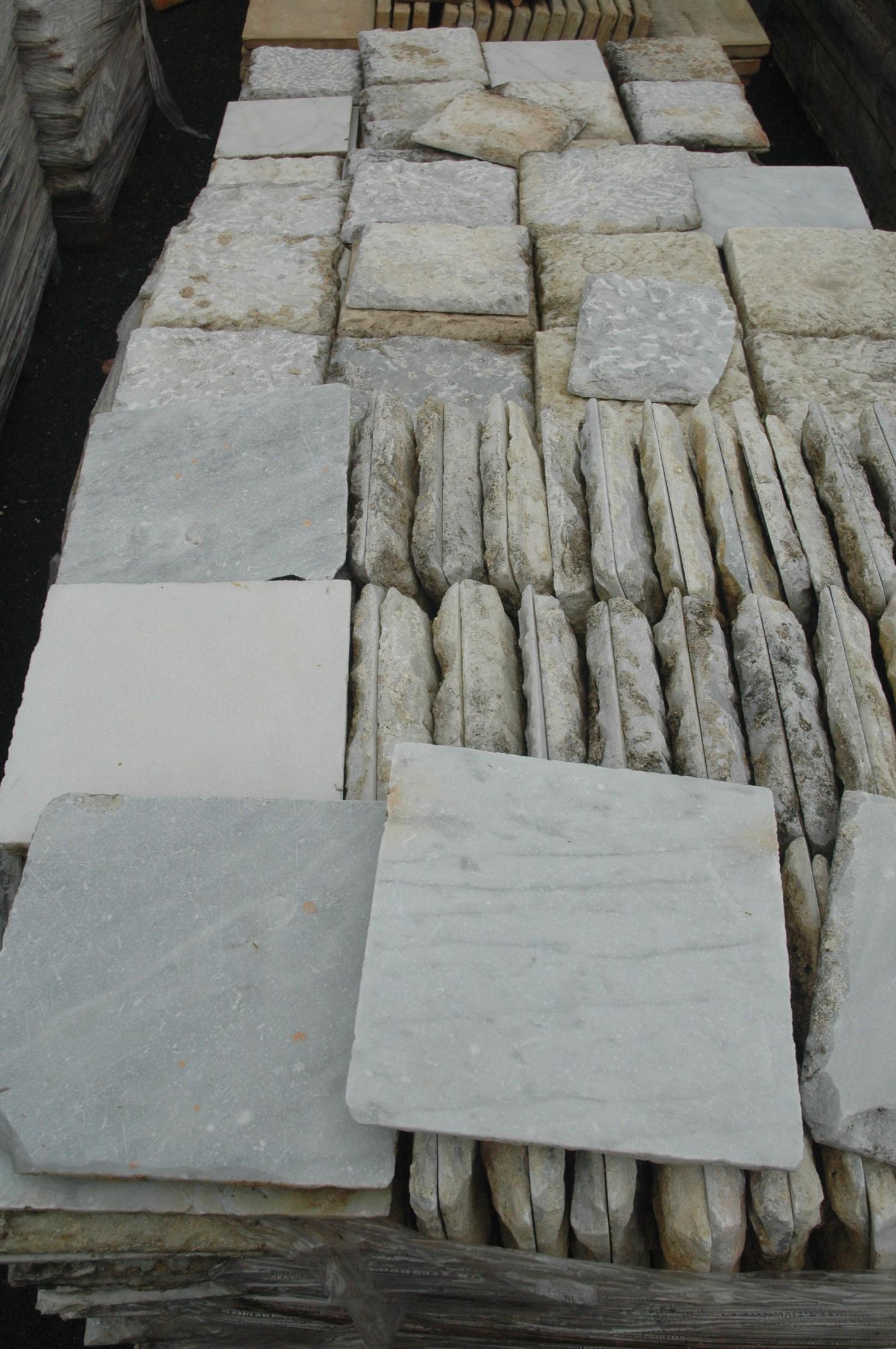 Carrelage ancien en marbre blanc vein Carrelage 10 x 10