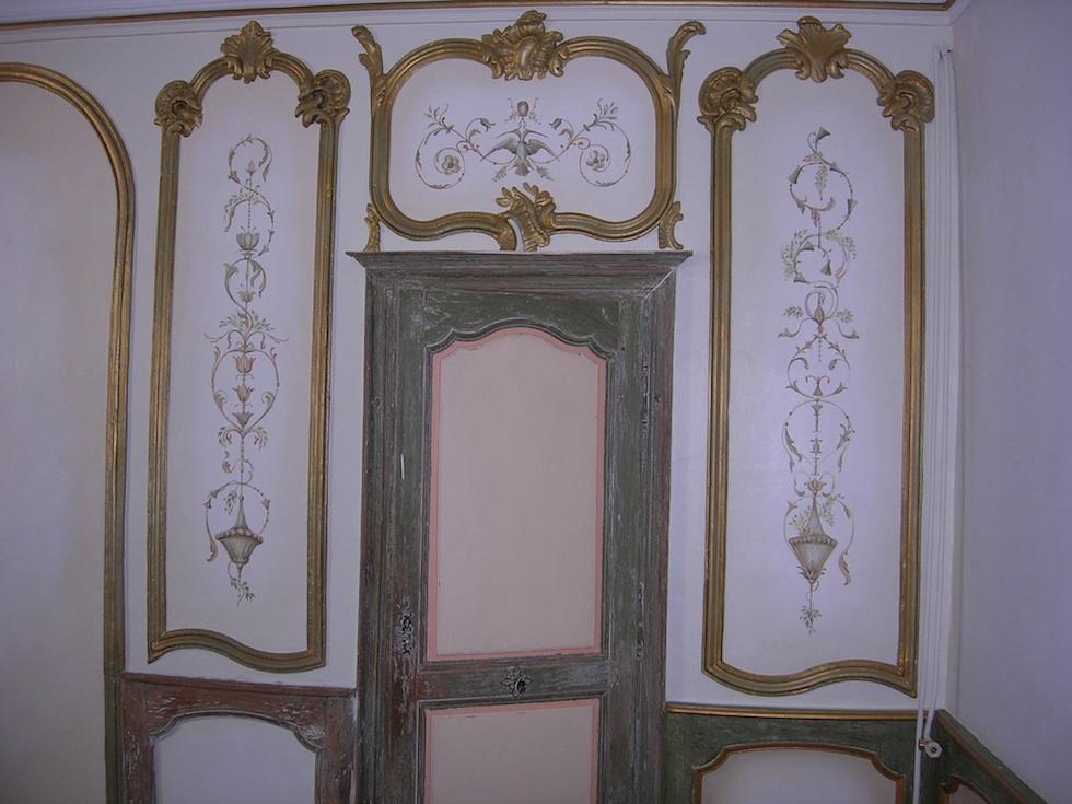 Décoration murale dans une propriété du XVIII ème siècle